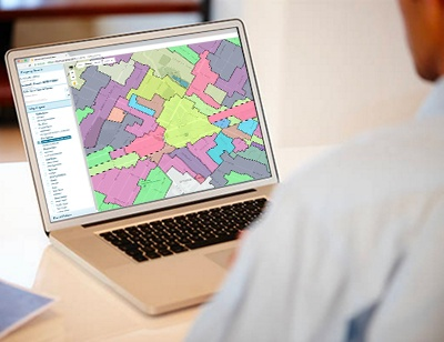GovPilot GIS on laptop government software