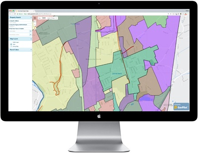 GIS map on laptop GovPilot government software