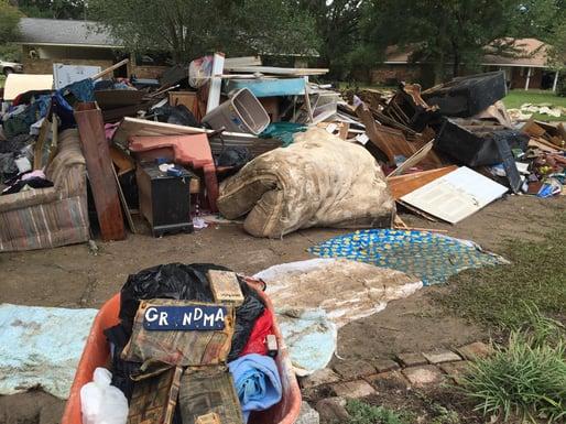 Flooding Damage in Denham Springs, Louisiana