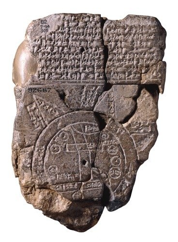 This carving depicting Babylon circa the 6th Century BCE is the world's earliest known map.