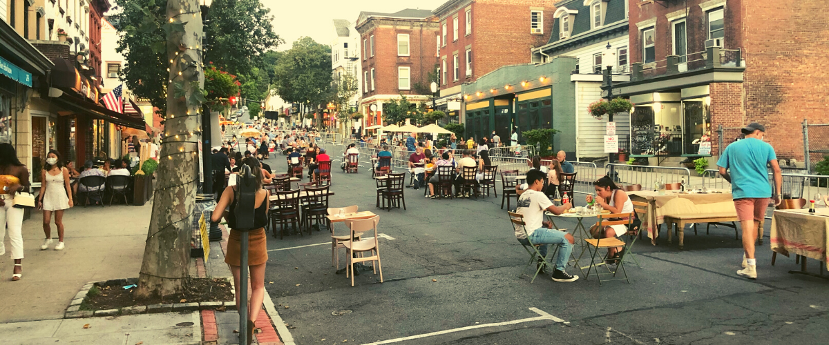 Tarrytown Street Reclamation and outdoor dining