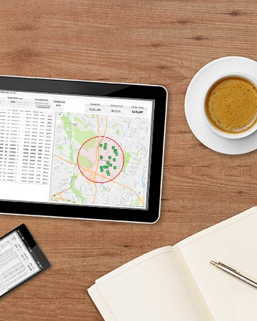 tablet and coffee GovPilot government software