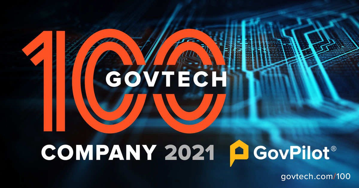 GovPilot Named to Government Technology Magazine's 2021 Top 100 List for Fourth Consecutive Year