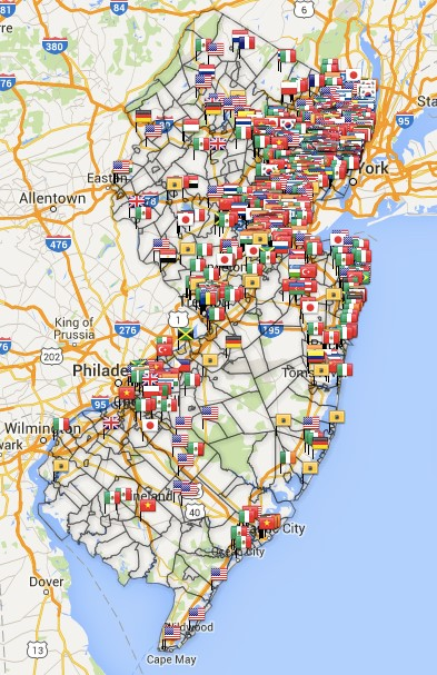 EthnicNJ's famed Food Map.